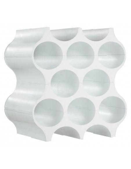 Casier à bouteilles blanc Set_Up - Casier superposable de rangement - Koziol