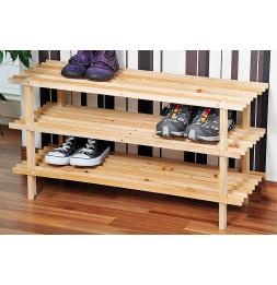 Range chaussures - Bois - 3 niveaux