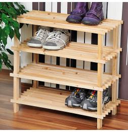 Range chaussures - Bois - 4 niveaux