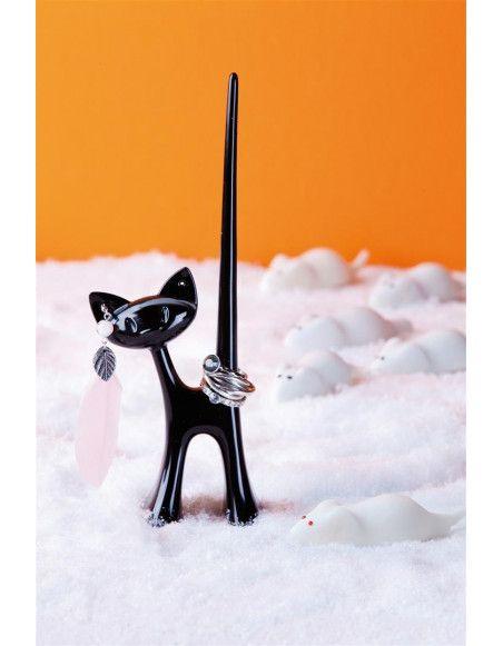 Présentoir pour bagues Miaou Chat - Koziol - Noir