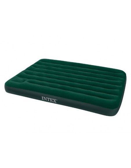 Matelas gonflable pompe intégrée - Intex - 2 places - Vert