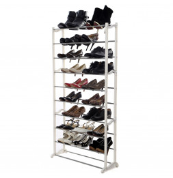 Etagère à chaussures jusqu'à 30 paires - Blanc