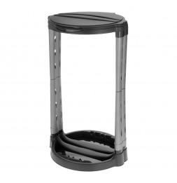 Porte sac poubelle - 125 L - Noir