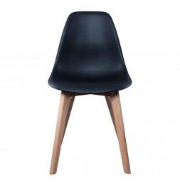Chaise Scandinave avec pieds en bois - Noir