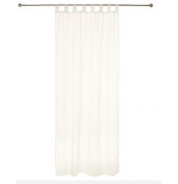 Lot de 2 voilages à pattes - Blanc - 140 x 240 cm