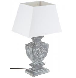 Lampe - Bois patine - Gris - 50 cm