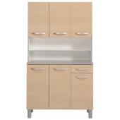 Buffet de cuisine 6 portes Smoothy - Season - Chêne - l 40 x P 10 x H 110 cm