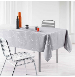 Nappe rectangle - Bully perle argent - 150 x 240 cm