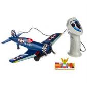 Avion télécommandé militaire bleu - Jouets enfants