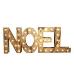 Lettres en bois Noël - LED - Décoration de Noël
