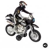Fast rider - Moto cross - Son et lumière - Noir