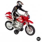 Fast rider - Moto cross - Son et lumière - Rouge