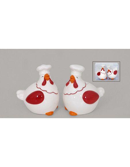 Ensemble salière et poivrière en forme de poules - Gourmet