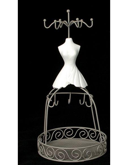 Porte accessoires et bijoux jupe longue - Bustier coeur