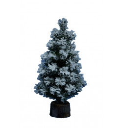 Sapin de noël artificiel Flock alpine - 25 cm - Décoration