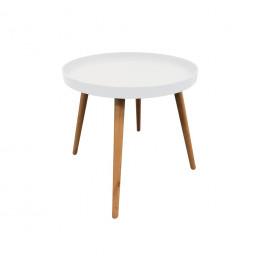 Table plateau ronde - Blanc