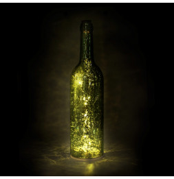 Bouteille lumineuse - Vert - Lampe d'ambiance