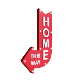 """Flèche décorative - """"Home"""" - Lumineux"""