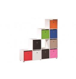 10 cubes de rangements - Blanc
