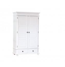 Armoire - 2 portes 2 tiroirs - Blanc