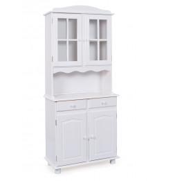 Bahut vaisselier - 4 portes 2 tiroirs - Blanc