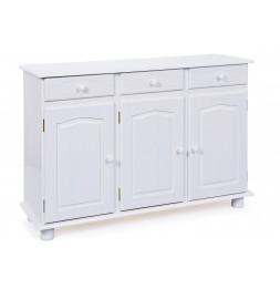 Bahut - 3 portes 3 tiroirs - Blanc