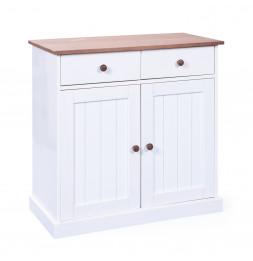 Bahut - 2 portes 2 tiroirs - Blanc