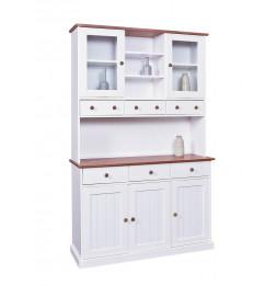 Bahut vaisselier - 5 portes 6 tiroirs - Blanc