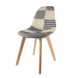 Chaise scandinave - Patchwork - Noir et Blanc