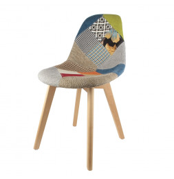 Chaise scandinave - Patchwork - Multi couleur