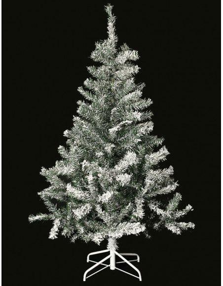Sapin de Noël artificiel floqué - 150 cm - Décoré de neige artificielle