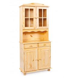 Bahut vaisselier - 4 portes 2 tiroirs - Acacia