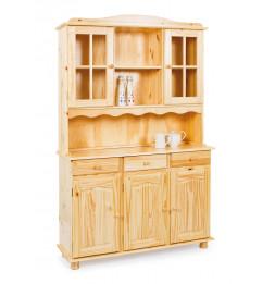 Bahut vaisselier - 5 portes 3 tiroirs - Acacia