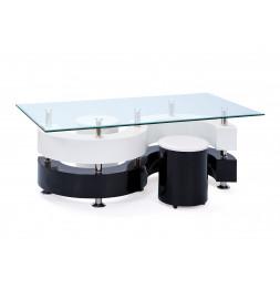 Table basse - Blanc et noir