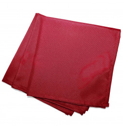 3 serviettes de table - 40 x 40 cm - Rouge