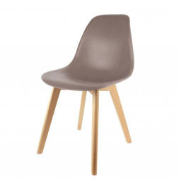 Chaise scandinave - Taupe