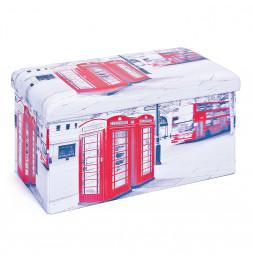 Boîte rectangulaire - Imprimé cabines Londres