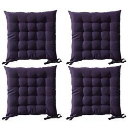 Galette de chaise matelassée - Lot de 4 - 40 x 40 cm - Violet