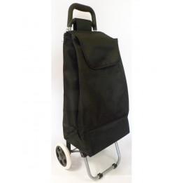 Chariot de courses uni noir - Poussette de marché