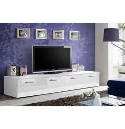 Banc TV - DUO - 200 cm x 35 cm x 45 cm - Blanc