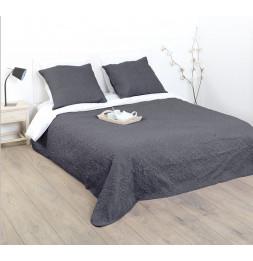 Dessus de lit avec 2 taies - Arabes - Gris - 240 x 260 cm