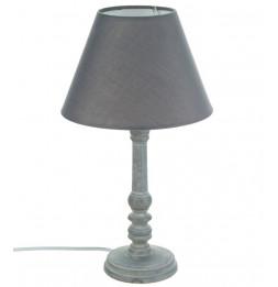 Lampe - Bois - Gris - H 36 cm