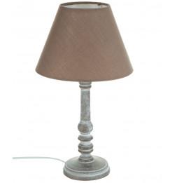 Lampe - Bois - Taupe - H 36 cm