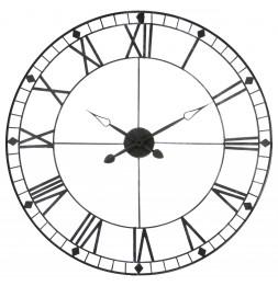 Horloge géante vintage - D 90 cm - Gris
