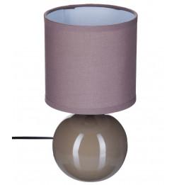 Lampe - Céramique - Taupe - H 25 cm