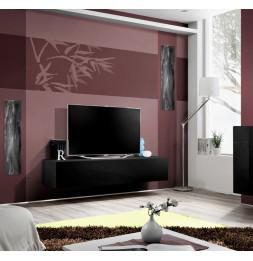 Banc TV - Fly I- 160 cm x 30 cm  x 40 cm - Noir