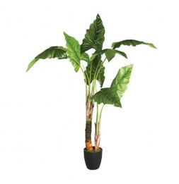 Bananier artificiel avec pot - H 120 cm - Objet de décoration