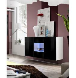 Commode - Fly - 120 cm x 70 cm x 40 cm - Blanc et noir
