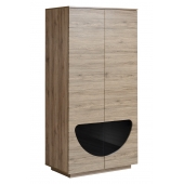 Armoire-penderie - Midnight - 100 cm x 200 cm x 60 cm - Chêne