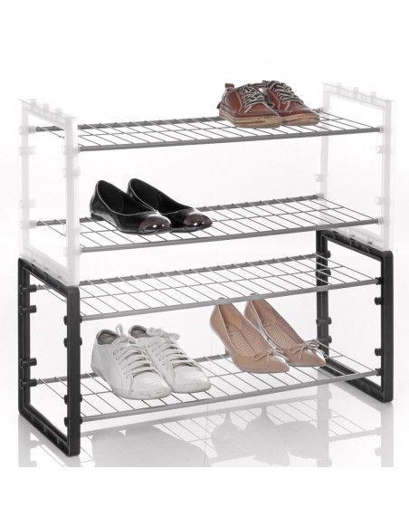 Range chaussures superposable - Noir
